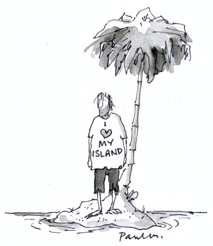 Cartoon: island (medium) by Paulus tagged desert,island,