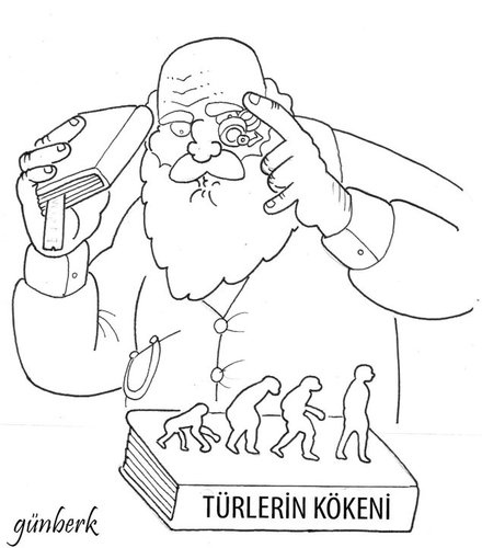 Cartoon: darwin (medium) by gunberk tagged darwin