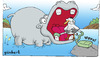 Cartoon: Cleaning time (small) by gunberk tagged animal