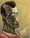 Cartoon: humanity (small) by gunberk tagged soul,pain,man,face,no,body,humanity