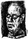 Cartoon: Ismail Kadare (small) by Medi Belortaja tagged ismail,kadare,great,albanian,writer