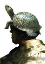 Cartoon: jungles helmet (small) by Medi Belortaja tagged jungle,helmet,turle,turtles,soldier,military