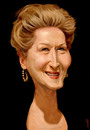 Cartoon: Meryl Streep (small) by Medi Belortaja tagged meryl,streep