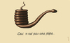 Cartoon: pipe (small) by Medi Belortaja tagged magritte,pipe,snake,smoke,smoking