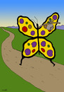 Cartoon: poor butterfly (small) by Medi Belortaja tagged poor,poverty,butterfly,migrant,immigration,emigrant