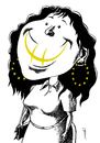 Cartoon: smile (small) by Medi Belortaja tagged smile,smiling,euro,europe,woman