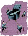 Cartoon: Trying to power (small) by Medi Belortaja tagged power,conflict,chair,elections,politicians