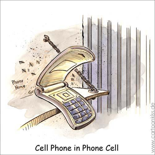 Cartoon: Cell Phone (medium) by Riemann tagged telephone,handy,cell