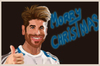 Cartoon: MORRY CHRISTMAS (small) by el chaqueta tagged sergio,ramos,christmas