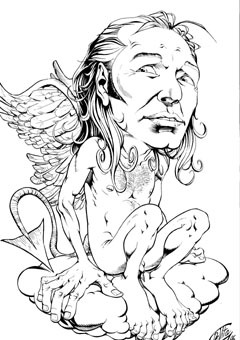Cartoon: Vasco Rossi (medium) by giuliodevita tagged vasco,rossi