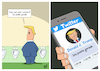Cartoon: Twitter (small) by luftzone tagged thomas,luft,cartoon,lustig,twitter,donald,trump,pinkeln,klo,wc,toilette,missverständnis,twittern,usa,us,präsident,handy,social,media