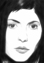 Cartoon: Audrey Tautou (small) by A Tale tagged schauspielerin,actress,woman,tautou,die,fabelhafte,welt,der,amelie,movie,portrait,porträt