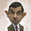 Cartoon: digital caricature of Mr Bean (small) by jit tagged digital,caricature,of,mr,bean