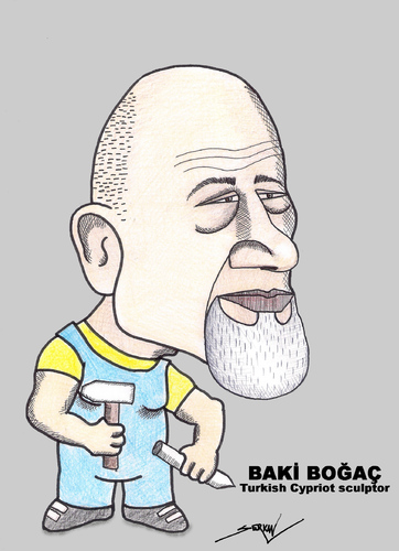 Cartoon: BAKI BOGAC (medium) by serkan surek tagged surekcartoons