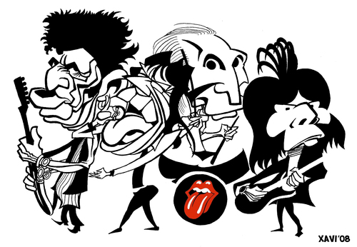 Cartoon: The Rolling Stones 00s (medium) by Xavi Caricatura tagged wood,ron,jagger,mick,watts,charlie,richards,keith,music,rock,caricature,stones,rolling,the,rolling stones,karikatur,portrait,illustration,band,rockband,rock,gruppe,keith richards,musik,musiker,charlie watts,mick jagger,ron wood,stars,promis,prominente,rolling,stones,keith,richards,charlie,watts,mick,jagger,ron,wood