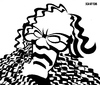Cartoon: Isaac Asimov (small) by Xavi Caricatura tagged isaac,asimov,caricature,science,fiction,writer,book,robot,foundation,empire