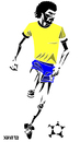 Cartoon: Socrates (small) by Xavi tagged socrates futebol football soccer brasil brazil corinthians sport
