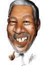Cartoon: Morgan Freeman (small) by cesar mascarenhas tagged morgan,freeman,caricature
