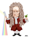 Cartoon: Isaac Newton (small) by Alex Pereira tagged physics,science