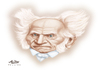 Cartoon: Schopenhauer (small) by Alex Pereira tagged philosophy