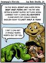 Cartoon: Swampys Florida Webcomic (small) by RobSmithJr tagged florida,webcomic,comic,cartoon,history,alligator,gator,gators,soap,settler