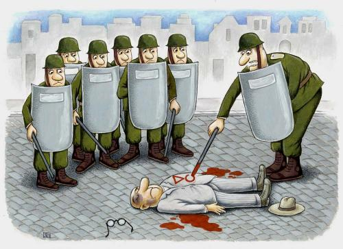 Cartoon: police (medium) by ciosuconstantin tagged act,