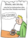 Cartoon: 20. April (small) by chronicartoons tagged nutella,kakao,strohhalm,cartoon