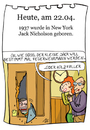 Cartoon: 22. April (small) by chronicartoons tagged jack nicholson shining film