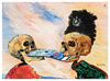 Cartoon: Das neue Iphone (small) by zenundsenf tagged james,ensor,skeletons,fighting,over,pickled,herring,homage,iphone,mac,apple,cartoon,composing,zenf,zensenf,zenundsenf,andi,walter