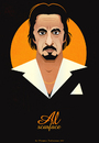 Cartoon: Al Pacino (small) by Martynas Juchnevicius tagged caricature,vector,scarface,movies,al,pacino,actor,film