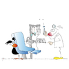 Cartoon: Beim Zahnarzt (small) by KADO tagged krähe,crow,animal,bird,vogel,kado,kadocartoons,dominika,kalcher,comic,humor,spass,cartoon,illustration,austria,steiermark,graz,styria,kunst,art,zeichnen,draw,zahnarzt,dentist