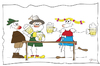 Cartoon: Oktoberfest (small) by KADO tagged oktoberfest münchen bier zeltfest kado kadocartoons cartoon comic humor spass illustration dominika kalcher austria styria graz