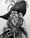 Cartoon: Mikey_Barbossa09_01 (small) by mikeyzart tagged barbossa,jack,potc,pirates,caribbean,caricature,cartoon,marker