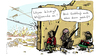 Cartoon: waffenruhe (small) by kittihawk tagged waffen,ruhe,libyen,gaddafi,un,resolution,flugverbot,zone,kittihawk