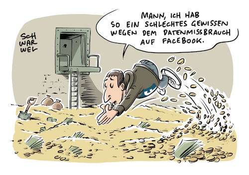 Cartoon: Facebook Datenmissbrauch (medium) by Schwarwel tagged datenskandal,facebook,mark,zuckerberg,social,media,www,online,portal,portale,account,profil,gefällt,mir,like,likes,daten,datenfirma,cambridge,analytica,nutzerdaten,virtual,reality,tech,konzern,silicon,valley,wahlkampf,donald,trump,us,usa,amerika,america,president,präsident,wahl,datenschutz,datenschutzbehörde,techlash,plattform,internet,cartoon,karikatur,schwarwel,datenmissbrauch,datenskandal,facebook,mark,zuckerberg,social,media,www,online,portal,portale,account,profil,gefällt,mir,like,likes,daten,datenfirma,cambridge,analytica,nutzerdaten,virtual,reality,tech,konzern,silicon,valley,wahlkampf,donald,trump,us,usa,amerika,america,president,präsident,wahl,datenschutz,datenschutzbehörde,techlash,plattform,internet,cartoon,karikatur,schwarwel,datenmissbrauch