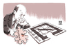 Cartoon: DB Chef John Cryan (small) by Schwarwel tagged db,deutsche,bank,john,cryan,integration,postbank,karikatur,schwarwel,puzzle