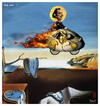 Cartoon: holy dali (small) by edda von sinnen tagged salvador,dali,bicycles,master,of,surealism,surealismus,fahrräder,heilig,cartoon,hommage,composing,zenundsenf,zensenf,zenf,andi,walter,edda,von,sinnen