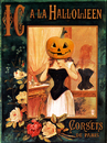 Cartoon: Horror Corset (small) by edda von sinnen tagged halloween,party,horror,corset,kürbis,pumpkin,illustration,edda,von,sinnen