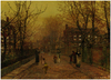 Cartoon: kleiner Ausreißer (small) by edda von sinnen tagged malerei,kunstwerke,hommage,kinder,milieu,athmosphäre,john,atkinson,grimshaw,illustration,edda,von,sinnen,art,painting,homage,children,atmosphere