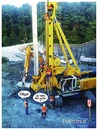 Cartoon: poledance (small) by edda von sinnen tagged olga,polecance,baustelle,hydroelectric,power,plant,zenundsenf,zensenf,zenf,andi,walter,construction,site,augsburg,bauarbeiter,spezialbohrmaschine,illustration,edda,von,sinnen