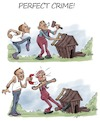 Cartoon: Perfect crime (small) by tinotoons tagged crime,murder,neighbor,nails,hammer,magnet,envy,detective