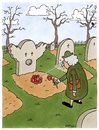 Cartoon: Sein letzter Scherz (small) by Ottitsch tagged friedhof,graveyard,clown,witwe,widow,flowers,gravestone,grabstein,herbst,trauer,tot,dead,death,sterben,dieing,joke