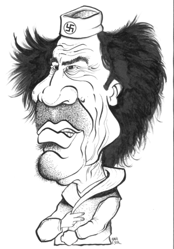 Cartoon: MUAMMER AL QADDAFI (medium) by halileser tagged muammer,al,qaddafi