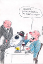 Cartoon: augeisstmit (small) by bob tagged restaurant,kellner,ober,gast