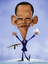 Cartoon: Barack Hussein Obama (small) by Abdul Salim tagged barack obama caricature photoshop