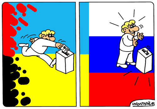 Cartoon: Referendum in Crimea (medium) by Igor Kolgarev tagged crimea,russia,ukraine
