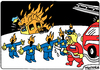 Cartoon: Fire in Ukraine (small) by Igor Kolgarev tagged revolution,chaos,junta,ukraine,russia,troops,help,eu,european,union