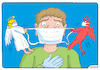 Cartoon: Medical mask (small) by Igor Kolgarev tagged mask,coronavirus,covid,patien,patient,angel,demon,choice,pandemic