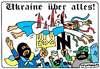 Cartoon: Ukraine über alles! (small) by Igor Kolgarev tagged ukraine,nazi,maidan