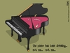 Cartoon: the piano (small) by raim tagged music,piano,drinking,raim,cartoon